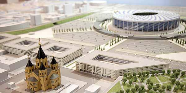 Стадион для чемпионата в Нижнем Новгороде